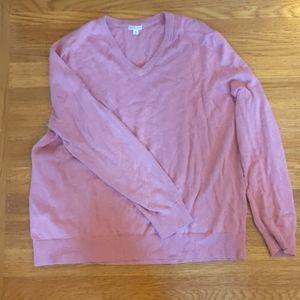Soft Pink V-neck Sweater